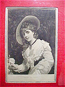 Among The Roses - Vintage Framed Print  (Image1)