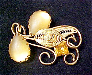 Gold-Toned Multi Stone W. German Pin (Image1)