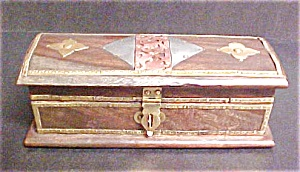 Wooden Box With Metal Accents - Lined (Image1)