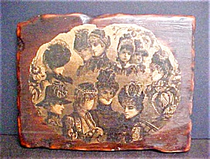 Wooden Collage Elegant Victorian Ladies (Image1)