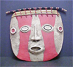 pre-Columbian Style Funerary Mask - I (Image1)
