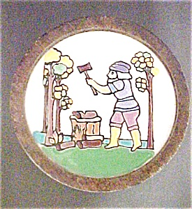 European Folk  Art  Inlaid Tile Box (Image1)