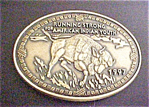 American Indian Youth Belt Buckle - 1997