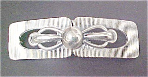 Art Deco Silver-toned Belt Buckle - 2 Pc (Image1)