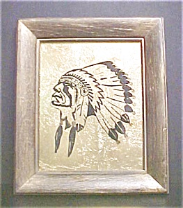 Indian Chief Painting With Headdress (Image1)