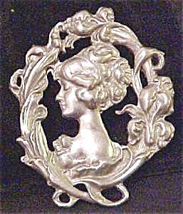 Art Nouveau Style Figural Pin (Image1)