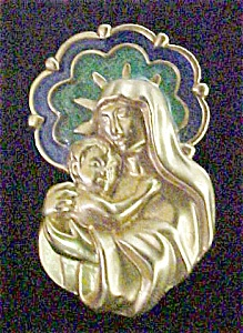 Virgin & Child Lapel Pin - Signed (Image1)