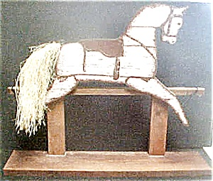 Wooden Horse Shelf