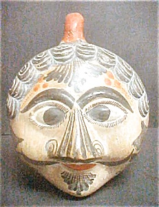 Mexican Pottery Head Bank - Vintage (Image1)