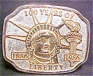Statue of Liberty Belt Buckle - 1886 - 1986 (Image1)