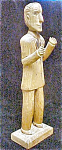 Wooden Folk Art Carved Standing Man (Image1)