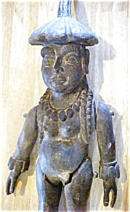 Old Mythological Female Figure - Wooden (Image1)