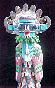 Carved Kachina & Mudhead - Signed S. Goyola (Image1)