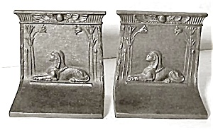 Bradley & Hubbard Cast Iron Sphinx Bookends (Image1)