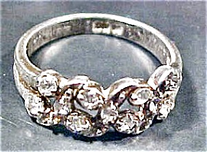 Petite Silver Ring with Rhinestones (Image1)