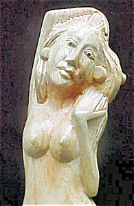 Wooden Carved Mermaid (Image1)