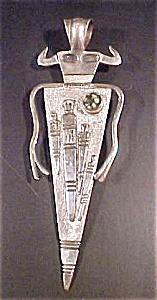 Vintage Petrograph Style Shaman Pendant (Image1)
