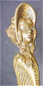 Vintage Girl In Bonnet Brass Letter Opener (Image1)