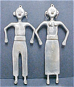 South Pacific Metal Couple Wall Hangings (Image1)