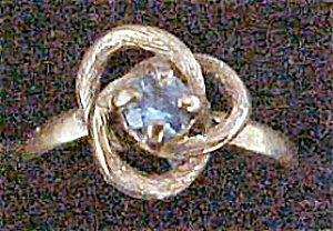 Gold-Toned Petite Love Knot Ring (Image1)