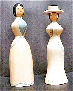 Pair Vintage Victorian Style Figures (Image1)