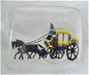 Victorian Horse/Carriage Scene Tie Tac (Image1)