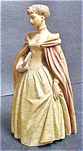 Vintage Carved Lady In Period Dress