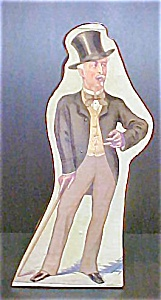 French Papier Mache Box with Man in Top Hat (Image1)