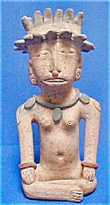 pre-Columbian Style Pottery  Figure (Image1)
