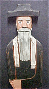 Carved Wooden Country Shelf Figure (Image1)