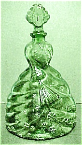 Glass Figural Decanter From Italy