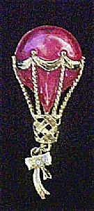 Red and Gold Hot-Air Balloon Pin (Image1)