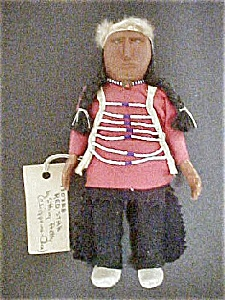 Native American Wood Doll - Red Star (Image1)