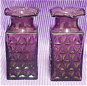 Pair of Amethyst Colored Glass Vases (Image1)