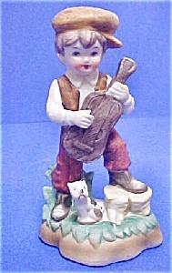 Vintage Ceramic Boy w/Banjo (Image1)