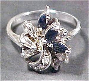 SS Sapphire & Diamonique Ring (Image1)