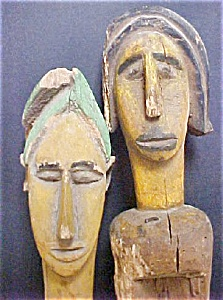 Pair of Bamana Puppets - Mali, Africa (Image1)