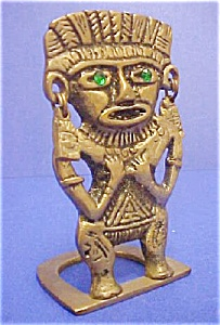 Brass pre-Columbian Style Figure (Image1)