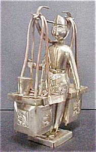 Asian, Indian Vendor Silver-plated Figure