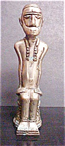 Timor Metal Seated Male Figure (Image1)