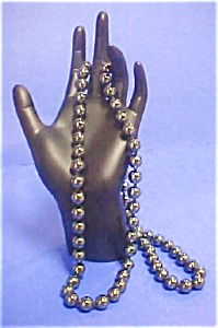 Vintage Hand Tied Bead Hematite Necklace (Image1)