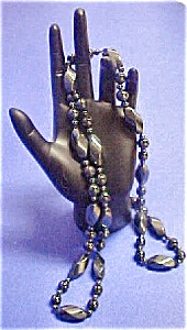 Vintage Multi-Sized Bead Hematite Necklace (Image1)