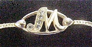 Avon Gold-Toned M Initial Metal Bracelet (Image1)