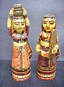 Pair of Asian Indian Ladies - 20th Century (Image1)