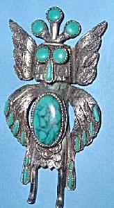 Native  American  Style Turquois Bird Figure (Image1)