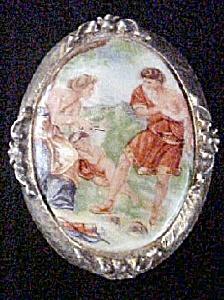 Portrait Pin In Classic Roman/Greek Style (Image1)