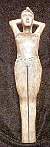 Vintage Wooden Female Nutcracker (Image1)