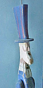 Vintage Wooden Uncle Sam Folk Art (Image1)
