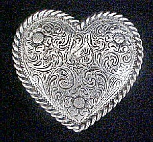 Silver-Toned Heart Belt Buckle (Image1)