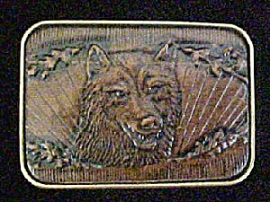 Leather Style Wolf Belt Buckle - Canadian (Image1)